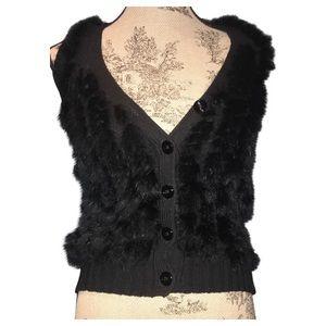 NWT, Rabbit & Wool Vest Sweater ArmaniExchange